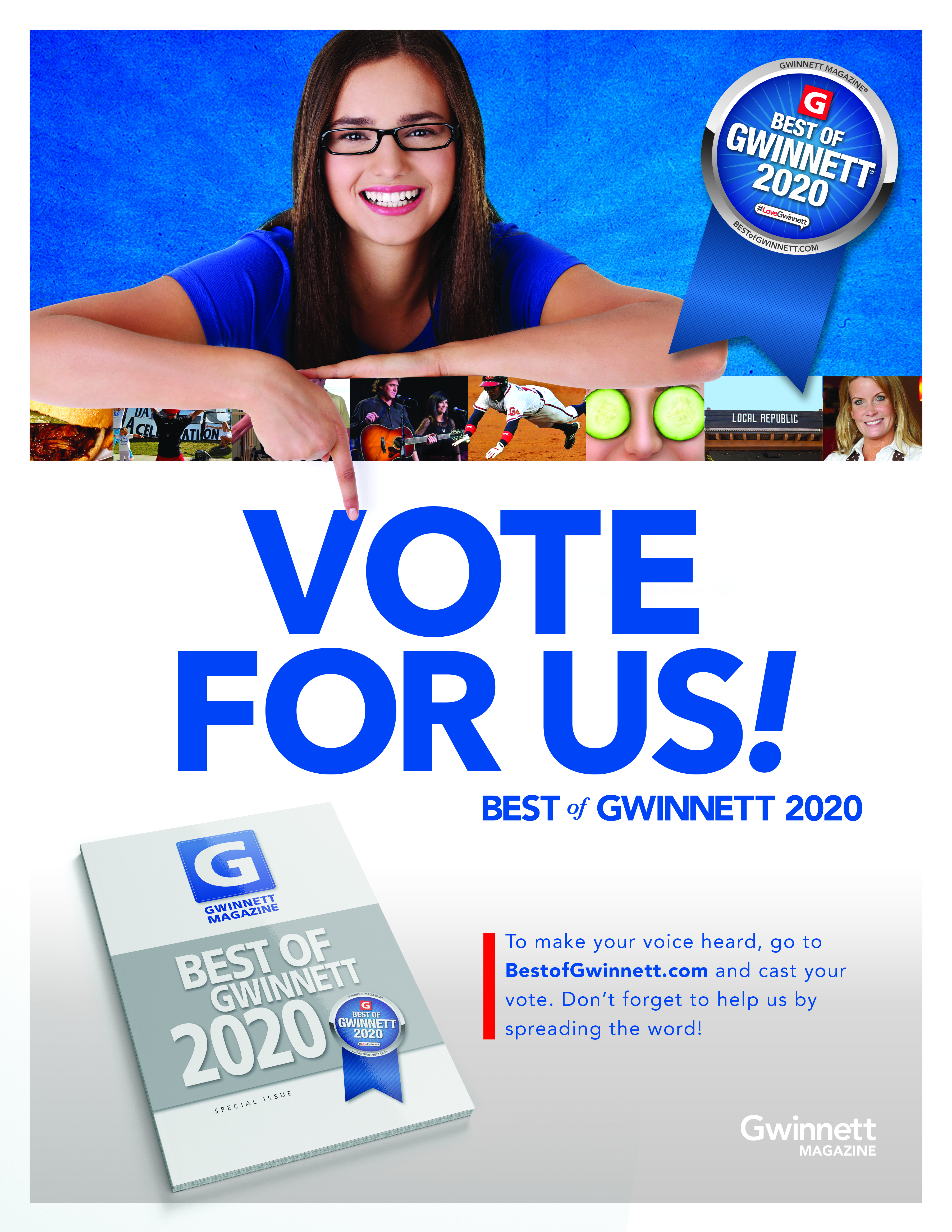 2020 Best of Gwinnett Campaign Kit Table Top