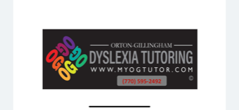 Georgia Orton-Gillingham Tutoring for Dyslexia
