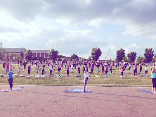 Yoga on the Lawrenceville Lawn