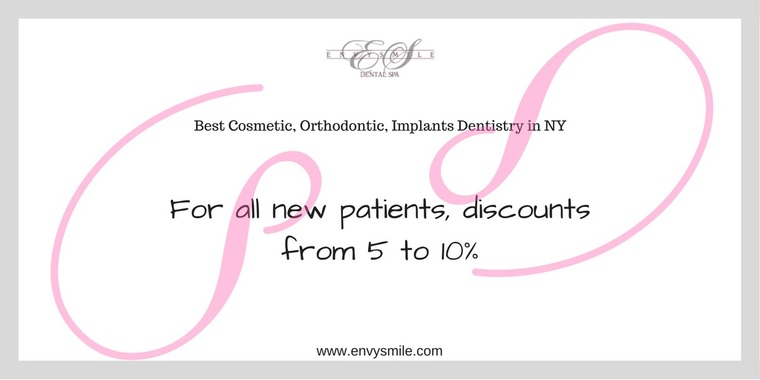 Discount from Envy Smile Dental Spa For All New Patients